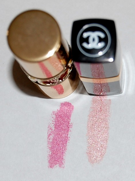 swatch rouge volupte shine