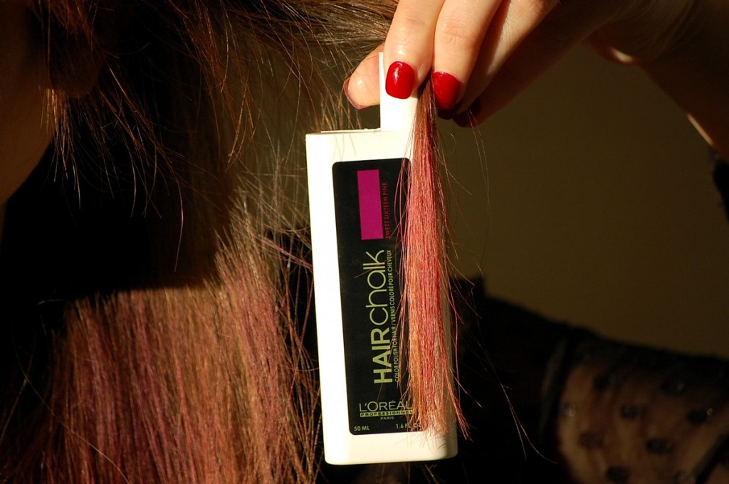 Hairchalk L'Oréal rose