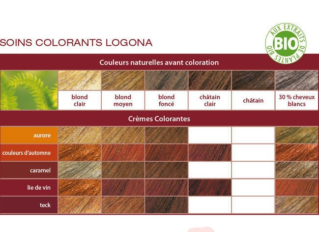 nuancier crmes colorantes logona - Coloration Logona Cheveux Blancs